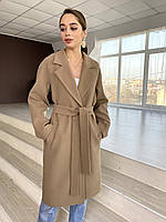 Брендовое демисезонное пальто из итальянского кашемира