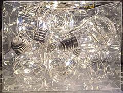 Ретро лампочки гірлянда дріт Крапля Роси 4 м, 70 LED, 10 ламп, від мережі 8 режимів, фото 3