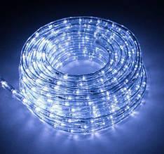 Світлодіодна Вулична Гірлянда Дюралайт 10 м, білий з перехідником 220V світлодіодний Led