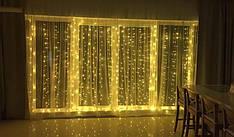 """Світлодіодна гірлянда штора """"Крапля роси"""" 200 LED/3х2 м c пультом"""