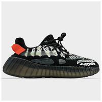 Мужские кроссовки Adidas Yeezy Boost 350 V3 Core Black, черные кроссовки адидас изи буст 350 в3