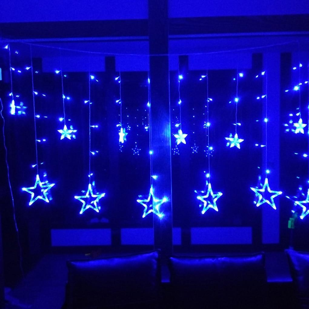 Ночник в комнату Звездный занавес 2,5 м (синий), 8 режимов, от сети