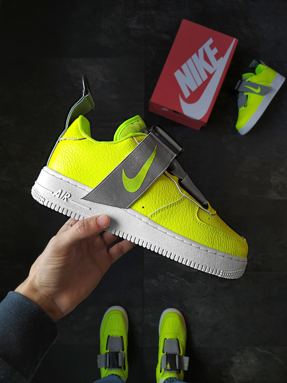 Мужские кроссовки Nike Air Force Utility зеленые
