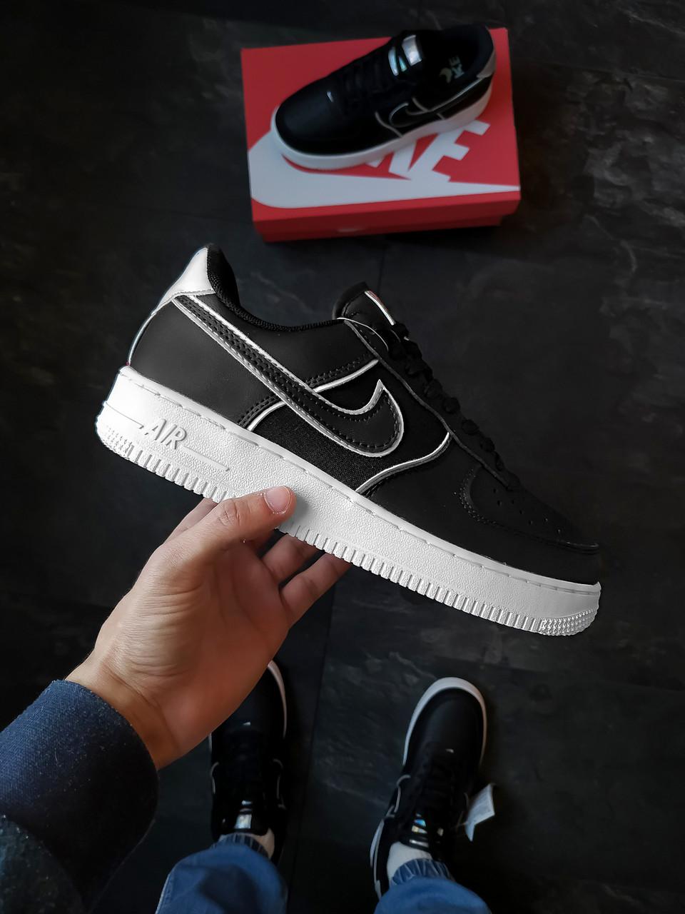Мужские кроссовки Nike Air Force 1,07 черные
