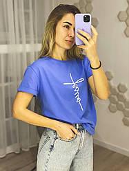 Жіноча футболка з бавовни