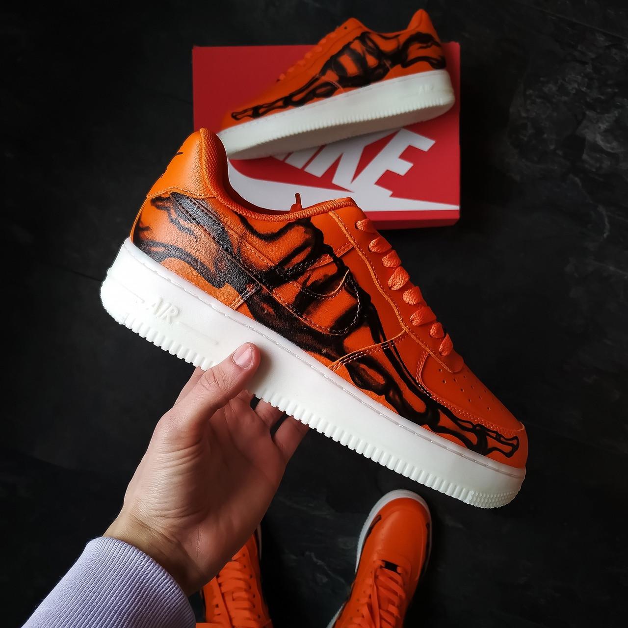 Мужские кроссовки Nike SF1 skeleton orange