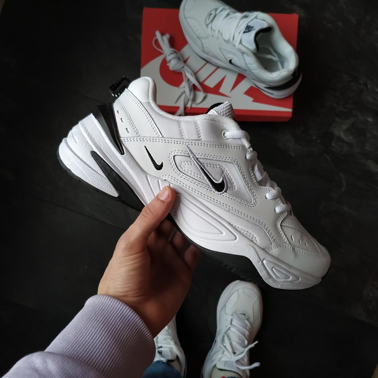 Мужские кроссовки Nike M2K Tekno (белые черный найк)