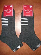 """Подростковый носок """"в стиле"""" """"Adidas"""". р. 23-25 (36-39). Графит"""