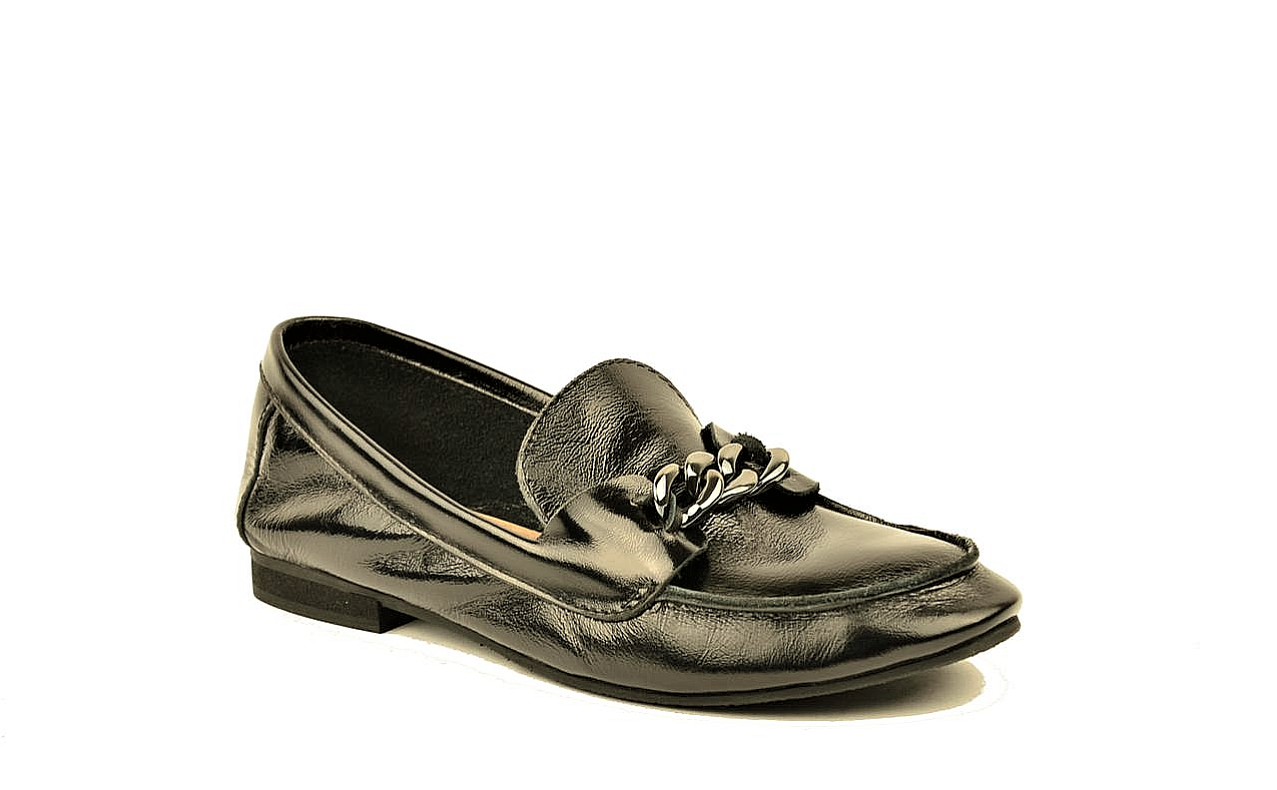 """Кожаные лоферы женские мягкие черные в стиле """"horsebit loafers"""""""