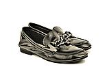 """Кожаные лоферы женские мягкие черные в стиле """"horsebit loafers"""", фото 2"""