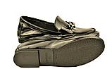 """Кожаные лоферы женские мягкие черные в стиле """"horsebit loafers"""", фото 3"""