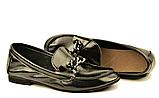 """Кожаные лоферы женские мягкие черные в стиле """"horsebit loafers"""", фото 4"""