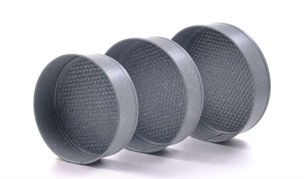 Набір роз'ємних круглих форм для випічки Con Brio CB-501 | форми для випікання 3 шт Con Brio