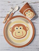 Набір дитячого посуду Con Brio CB-254 з бамбука сервіз 5 предметів