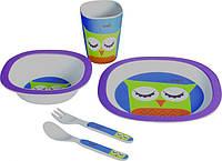 Набір посуду дитячої Con Brio CB-250 5 предметів тарілки вилка ложка