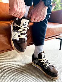 Жіночі коричневі кросівки Nike Air Jordan 4