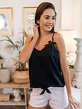 Женская черно-розовая пижама Marinela Sensis