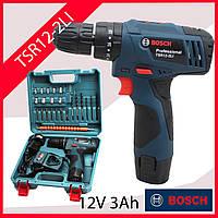 ШУРУПОВЕРТ Ударный Бош Bosch TSR12-2LI (12V 3Ah Li-Ion) с набором бит, сверл, головок, гибкий вал