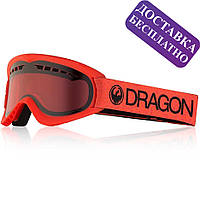 Популярна лижна маска сноубордична Dragon DX Melon з лінзою Lumalens Rose, фото 1