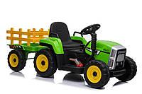 Детский электромобиль Трактор с прицепом (2 мотора по 25W, MP3) Baby Tilly XMX611 EVA GREEN Зеленый