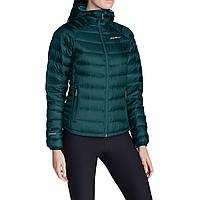 Куртка Eddie Bauer Womens Downlight StormDown Hooded Jacket DEEP SEA (XS)