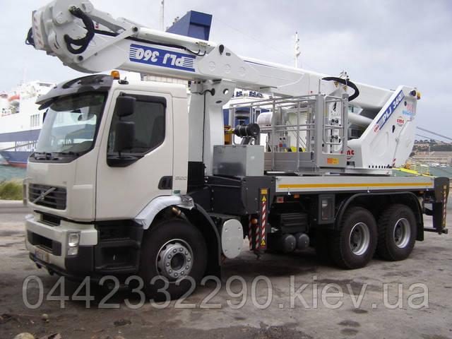 Аренда телескопической автовышки 36 метров в Киеве