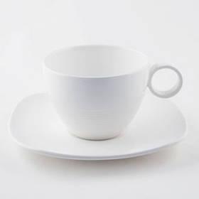 Maestro Чашка с блюдцем White Linen MR 10001-05/06