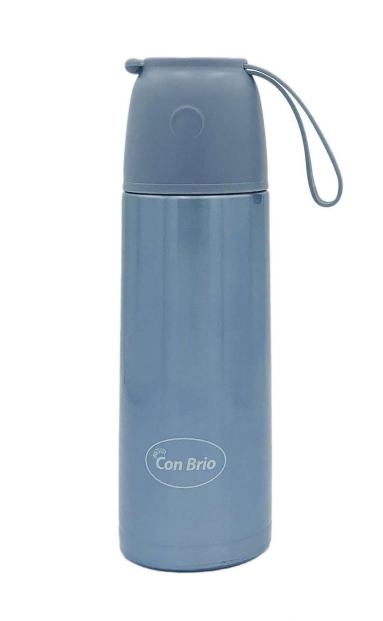 Вакуумний термос з нержавіючої сталі Con Brio CB-376 (350 мл)   термочашка Con Brio   термос 0,35 л синій