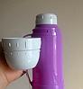 Вакуумный термос со стеклянной колбой Con Brio CB-355 (450 мл)   термочашка Con Brio   термос 0,45л фиолетовый, фото 3
