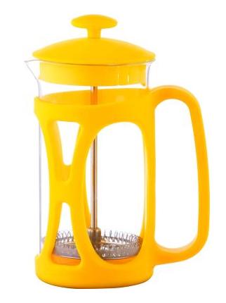 Френч-прес для заварювання Con Brio CB-5380 (800 мл) скло+пластик | заварник | заварювальний чайник жовтий