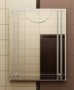 Зеркало с полкой 70х55 см