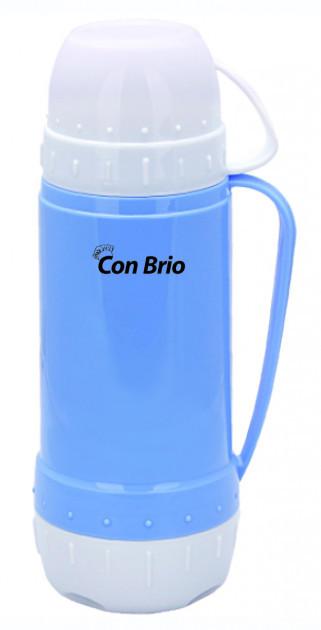Вакуумний термос зі скляною колбою Con Brio CB-355 (450 мл)   термочашка Con Brio   термос 0,45 л синій