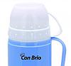 Вакуумний термос зі скляною колбою Con Brio CB-355 (450 мл)   термочашка Con Brio   термос 0,45 л синій, фото 2