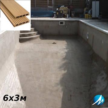 Терасна дошка по периметру басейну з шириною доріжки 0,7 м - комплект для бетонного басейну 6х3м