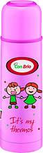 Вакуумный термос из нержавеющей стали Con Brio CB-345 (500 мл) | термочашка Con Brio | термос 0,5 л розовый
