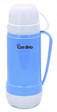 Вакуумний термос зі скляною колбою Con Brio CB-355 (450 мл) | термочашка Con Brio | термос 0,45 л синій