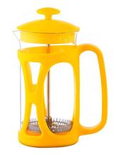Френч-пресс для заваривания Con Brio CB-5380 (800 мл) стекло+пластик   заварник   заварочный чайник желтый