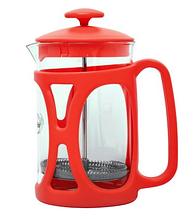 Френч-пресс для заваривания Con Brio CB-5380 (800 мл) стекло+пластик   заварник   заварочный чайник красный