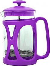 Френч-пресс для заваривания Con Brio CB-5380 (800 мл) стекло+пластик   заварник   заварочный чайник фиолетовый