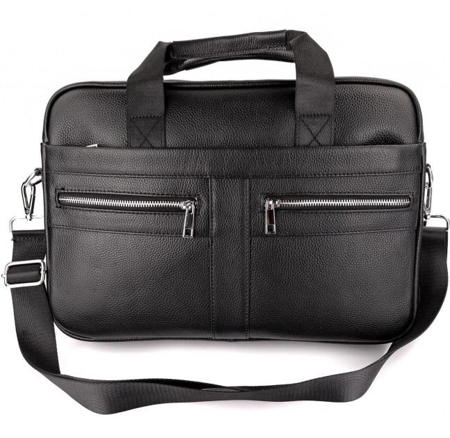 Офісна чоловіча сумка для ноутбука і документів SK N8956 чорна