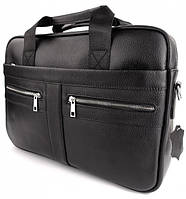 Офісна чоловіча сумка для ноутбука і документів SK N8956 чорна, фото 3