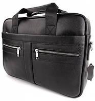 Офисная мужская сумка для ноутбука и документов SK N8956 черная, фото 3
