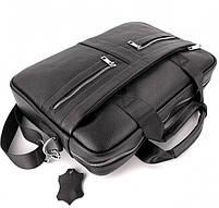 Офісна чоловіча сумка для ноутбука і документів SK N8956 чорна, фото 5