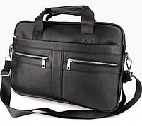Офісна чоловіча сумка для ноутбука і документів SK N8956 чорна, фото 2