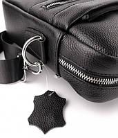 Офісна чоловіча сумка для ноутбука і документів SK N8956 чорна, фото 6