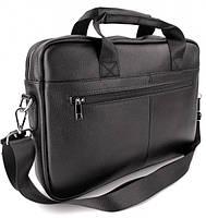 Офісна чоловіча сумка для ноутбука і документів SK N8956 чорна, фото 7