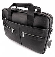 Офісна чоловіча сумка для ноутбука і документів SK N8956 чорна, фото 8