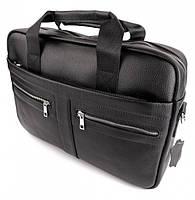 Офисная мужская сумка для ноутбука и документов SK N8956 черная, фото 8