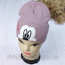"""М.93516 Шапка для дівчинка подвійна """"Mickey"""" 1-8 років, різні кольори"""
