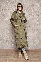 Пальто-халат з плащової тканини, мокко і хакі, розміри: S-M, L-XL
